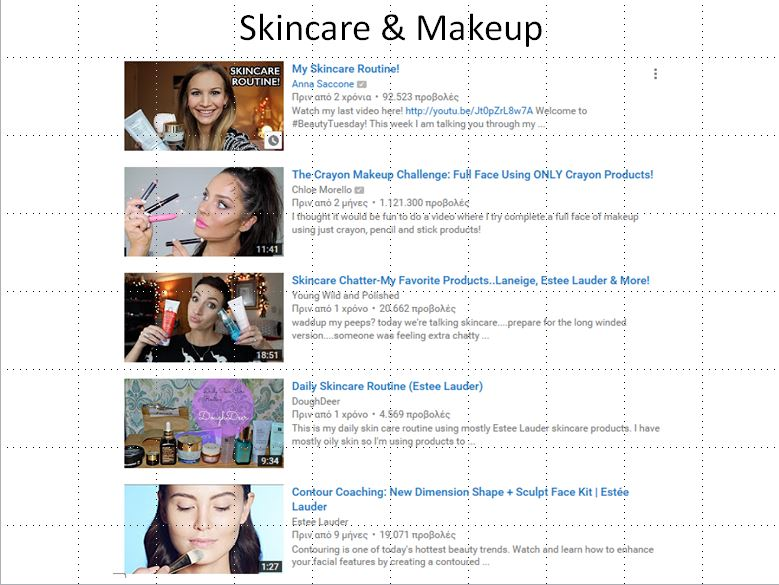 skin care and makeup visits